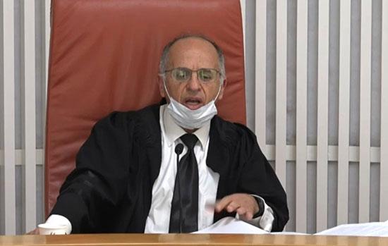 השופט נעם סולברג / צילום: מתוך הדיון שהועבר בשידור חי