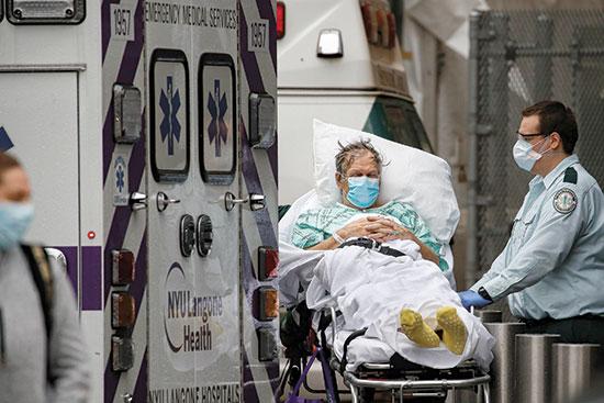 המרכז הרפואי לגונה בניו יורק, אפריל / צילום: John Minchillo, Associated Press