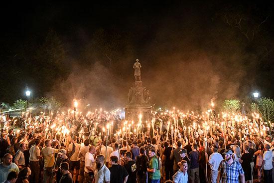 מפגן השנאה בשארלוטסוויל בווירג'ינה  / צילום: Stephanie Keith, רויטרס
