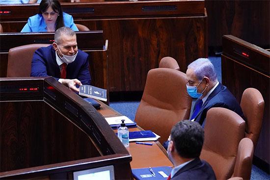 נתניהו וארדן, השבעת הכנסת ה-35 / צילום: עמוס בן גרשום, דוברות הכנסת