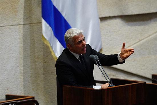 יאיר לפיד בהצעת חוק פסקת ההתגברות / צילום: עדינה ולמן, דוברות הכנסת