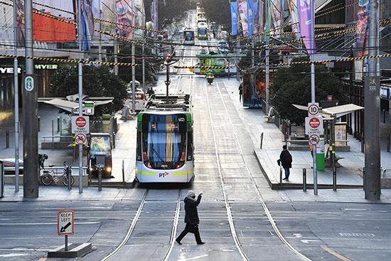 סגר במלבורן, אוסטרליה. שיתוף הפעולה של האזרחים יקבע את התוצאות / צילום: רויטרס