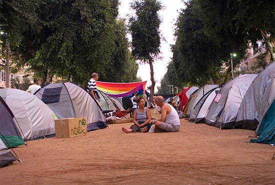 """מחאת האוהלים. """"יום אחד התעוררתי בוקר וגיליתי שנעלם לי שדה המחקר"""" / צילום: שלומי יוסף, גלובס"""