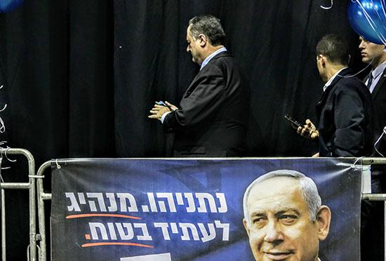 ישראל כץ, שר החוץ, במטה הליכוד, טרם פרסום תוצאות המדגמים, אמש / צילום: שלומי יוסף, גלובס