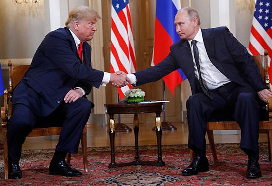 הפגישה של טראמפ ופוטין בהלסינקי, פינלנד / צילום: Pablo Martinez Monsivai, Associated Press