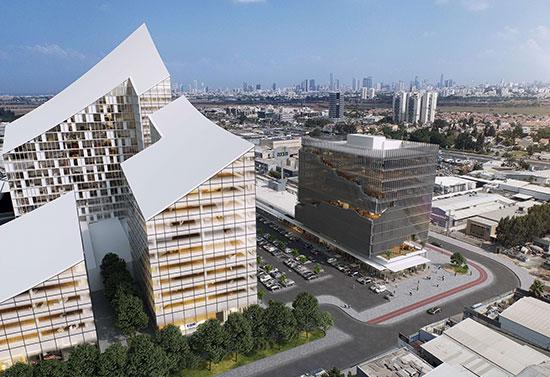 """בניין של חברת """"מבנה"""" / הדמיה: יח""""צ"""