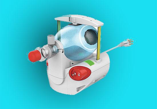 """הדמיית מכונת ההנשמה שמייצרת אלביט על בסיס טכנולוגיה של חברת LifeCan   / צילום: lifeCan medical, יח""""צ"""