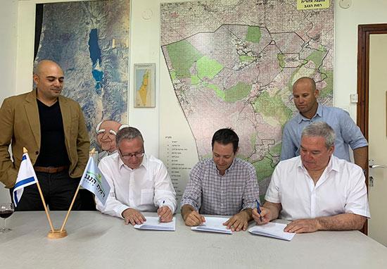חתימה על הסכם שיתוף פעולה להקמת מרכז חדשנות לתחומי האג-טק ברמת נגב  / צילום: מ.א רמת הנגב