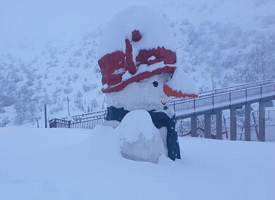שלג בחרמון / צילום: אתר החרמון
