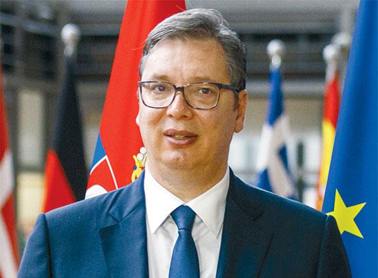נשיא סרביה, אלכסנדר ווצ'יץ'. שלום כפוי / צילום: Olivier Matthys, Associated Press