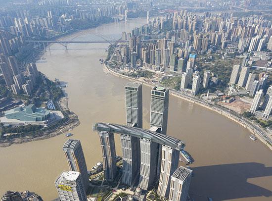 פרויקט Raffles City במרחב / צילום: Shao Feng