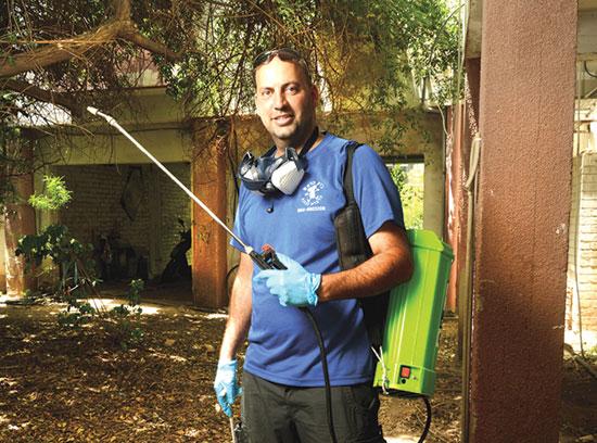 אלעד אורי, הבעלים של חברת הריסוס ג'וק בראש / צילום: איל יצהר, גלובס