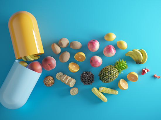 מגוון רכיבים תזונתיים, חלק מאורח חיים בריא / צילום: Istock