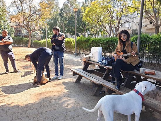 גינת הכלבים בגן מאיר ביום הבחירות, תל אביב / צילום: שירי דובר, גלובס