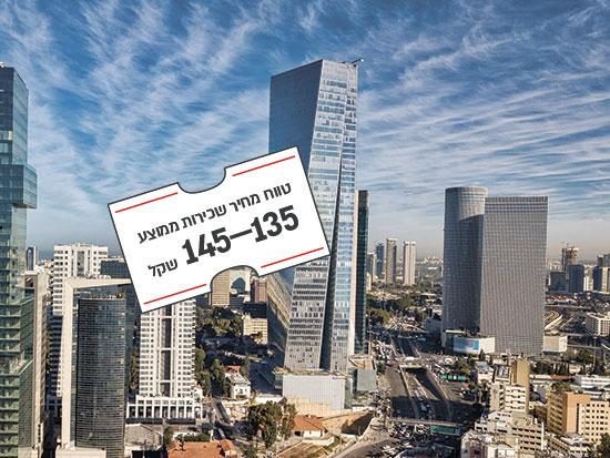 """מגדל עזריאלי שרונה, מנחם בגין 121, ת""""א / צילום: shutterstock, שאטרסטוק"""