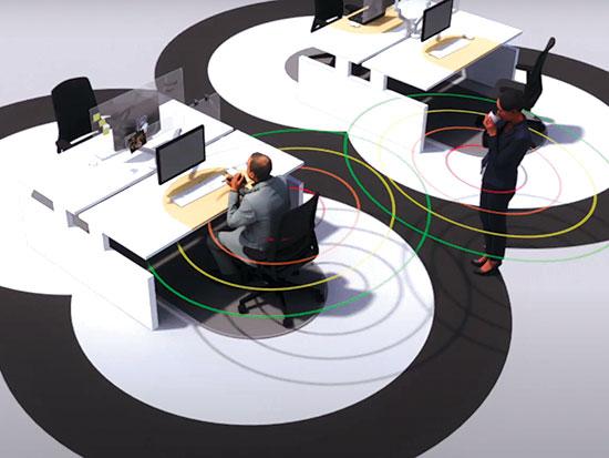 """משרד """"6 Feet"""" של חברת הנדל""""ן Cushman & Wakefield / צילום: צילום מסך מתוך סרטון הפרויקט"""