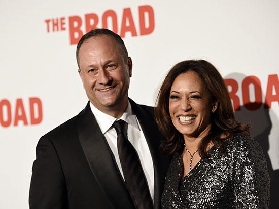 האריס ובעלה דאגלס אמהוף / צילום: Chris Pizzello, Associated Press