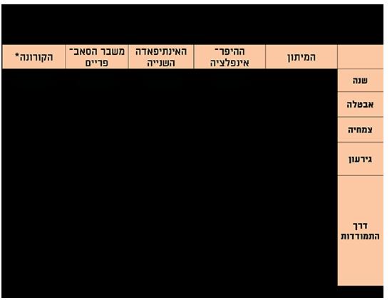 כך יצאה ישראל מהמשברים הכלכליים הקודמים / אינפוגרפיקה: בנק ישראל