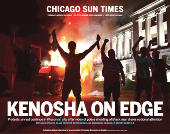 """""""קנושה על הסף״, מכריז עיתון היוצא בשיקגו הסמוכה / צילום: צילום מסך"""