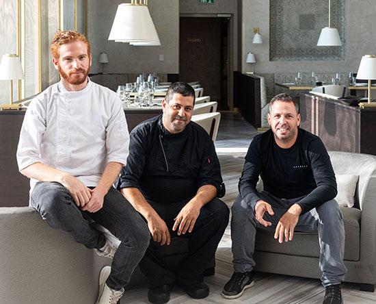 מייסדי מסעדת פופ נ' פופ, משמאל לימין: עופר בן נתן שחף שבתאי ועודד שובל / צילום: ניצן רובין