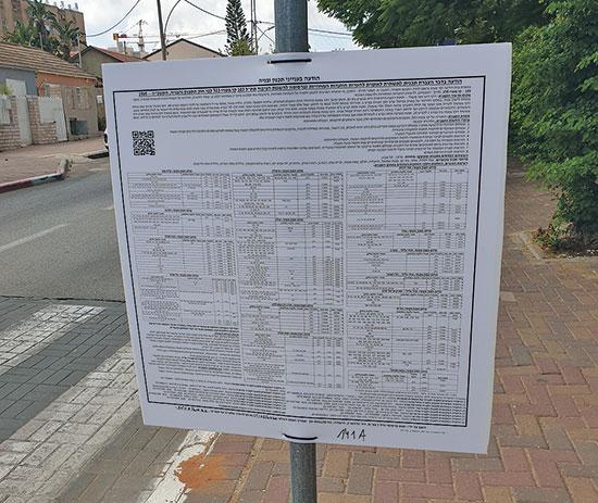 הודעה רשמית על תוכנית קו M3. האדם הסביר אינו יכול להבין דבר מהשלטים  / צילום: הלית ינאי־לויזון