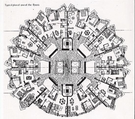 שרטוט המבנה  / צילום: ארכיון אדריכלות ישראל