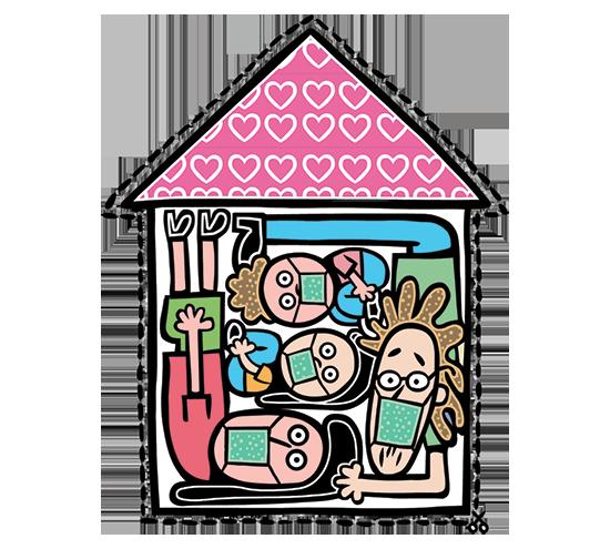המטרה: למלא את הבית בסירקולציה חיובית / איור: תמיר שפר