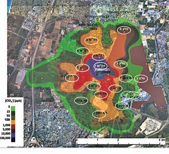 הזיהום בתעש רמת השרון / אינפוגרפיקה: רשות המים