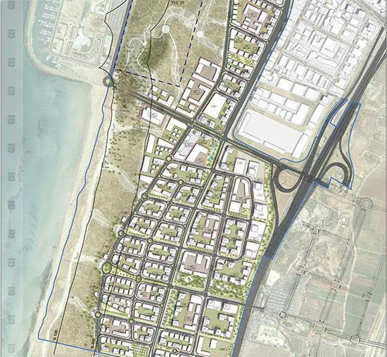 חוף התכלת  / הדמיה: נספח הבינוי של התוכנית