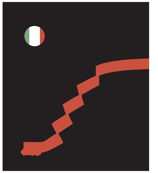 מספר הנדבקים באיטליה