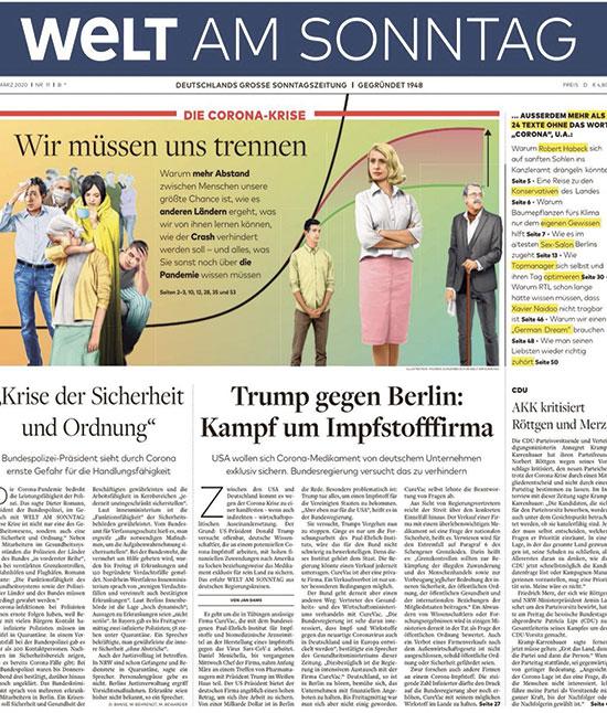 """מהדורת יום ראשון של העיתון """"די ולט"""" / צילום: צילום מסך, גלובס"""