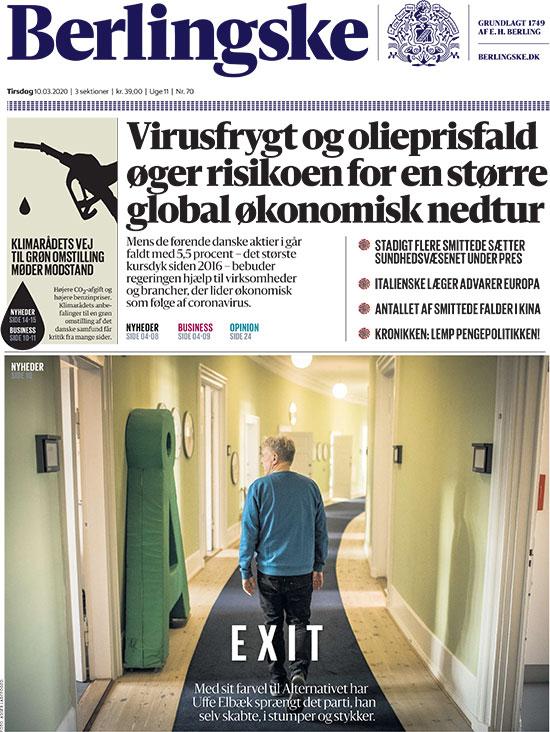 """העיתון הדני """"ברלינסקה""""  / צילום: צילום מסך"""