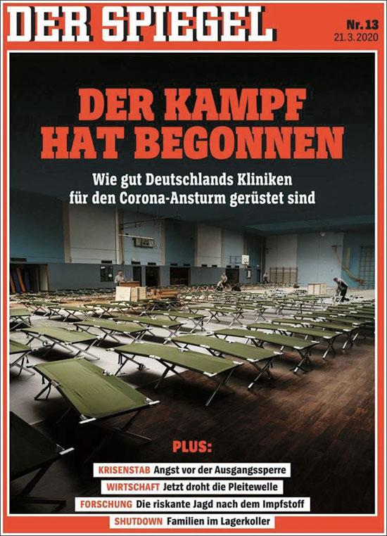 """העיתון הגרמני """"דר שפיגל"""". """"עכשיו מתחיל המאבק"""" / צילום: צילום מסך"""