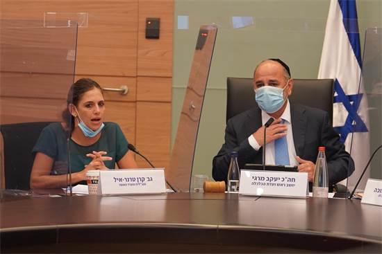 יעקב מרגי וקרן טרנר אייל בדיון בוועדת הכלכלה / צילום: יהונתן סמייה, דוברות הכנסת