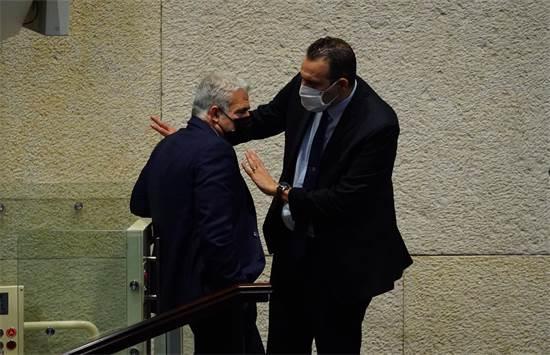 מיקי זוהר ויאיר לפיד / צילום: עדינה ולמן, דוברות הכנסת