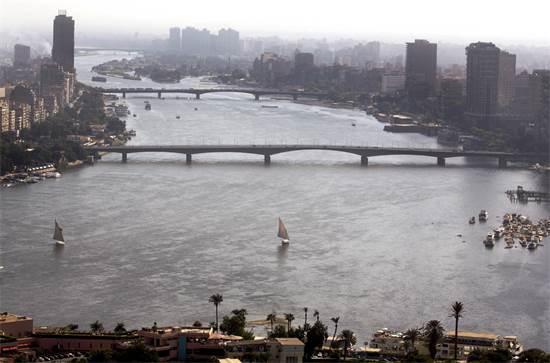 הנילוס בקהיר. מצרים נסמכת כמעט באופן בלעדי על הנהר לצרכי התושביםצילום:AP