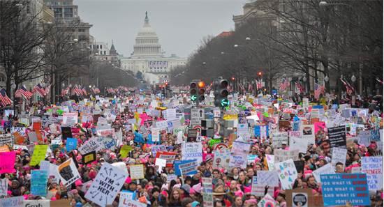 צעדת הנשים בוושינגטון  / צילום: בריאן וולסטון, רויטרס