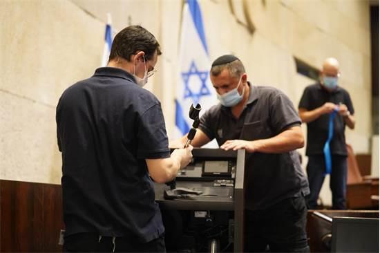 בכנסת נערכים למושב החורף בצל הקורונה / צילום: שמוליק גרוסמן, דוברות הכנסת