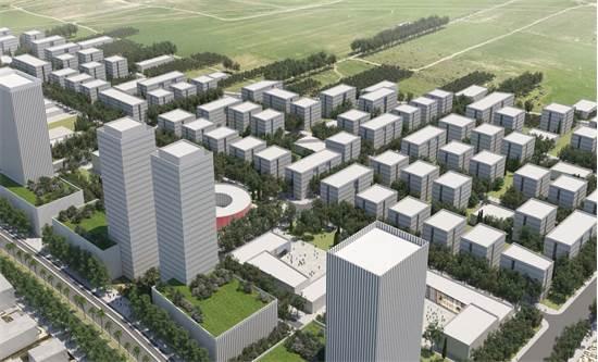 הפרויקט במזרח רחובות / הדמיה: מנדי ארנסט אדריכלים ודירה להשכיר