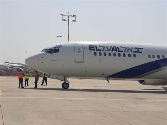 מטוס אל על לפני ההמראה לאבו דאבי / צילום: דוברות רש״ת