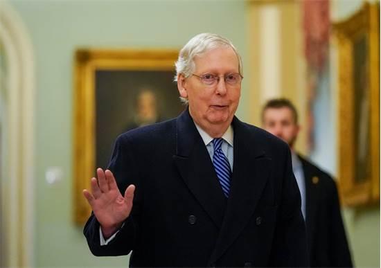 מיץ' מקונל, מנהיג סיעת הרוב הרפובליקנית בסנאט / צילום: Joshua Roberts, רויטרס