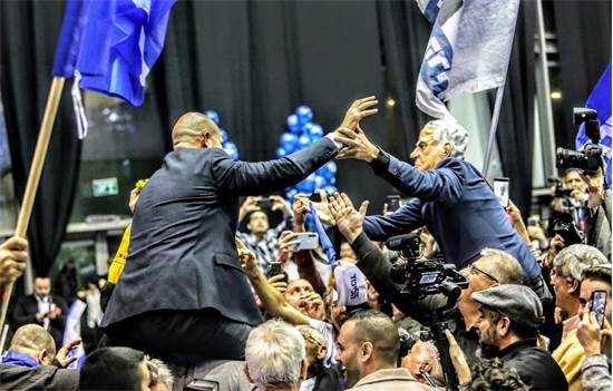 מטה הליכוד לאחר פרסום תוצאות המדגמים / צילום: שלומי יוסף