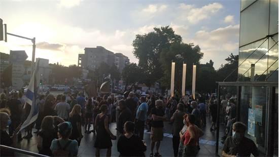 מחאה הערב בחורב, חיפה / צילום: ג'וני ספקטור