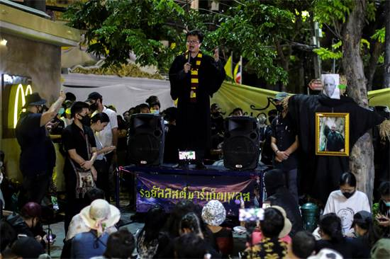 הפגנה פרו-דמוקרטית בתאילנד בהשראת עולמו של הארי פוטר / צילום: רויטרס, Athit Perawongmetha