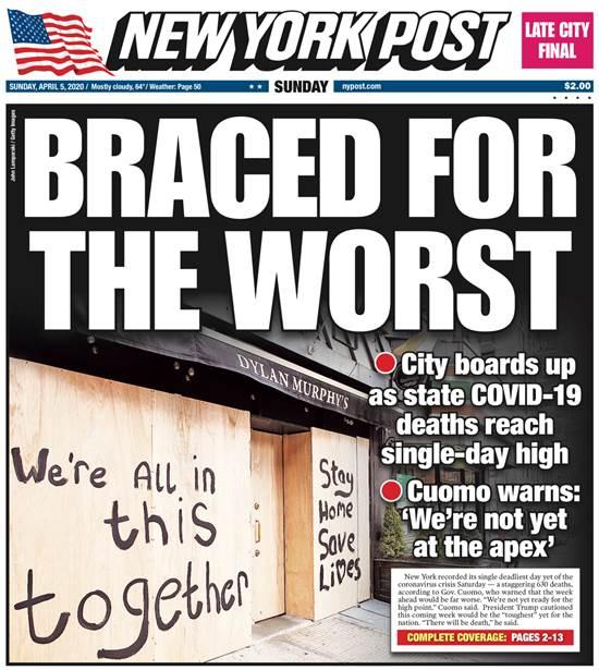 """""""מוכנים לגרוע מכל"""" - הניו יורק פוסט / צילום: צילום מסך"""
