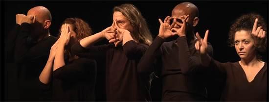 """מעבדת התיאטרון בשפת הסימנים """"אביסו"""" במימון המועצה האירופית למחקר / צילום: צילום מסך"""