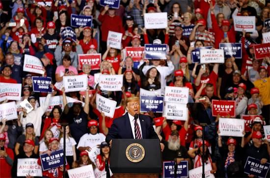 דונלד טראמפ נואם בעצרת תמיכה / צילום: Patrick Semansky, AP