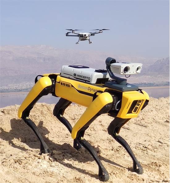 הרובוט ספוט עם החומרה של פרספטו / צילום: פרספטו