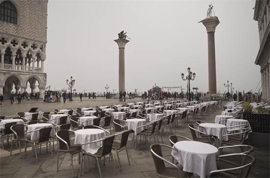 כיכר סן מרקו בוונציה בסוף פברואר 2020 / צילום: Renata Brito, AP