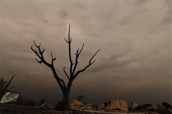 שאריות בית שנשרף בוויקטוריה, אוסטרליה / צילום: STRINGER, רויטרס